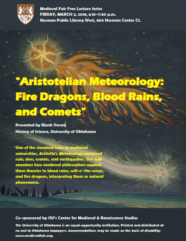 Aristotelian Meteorology: Fire Dragons, Blood Rains, and Comets